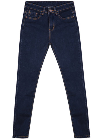 Navy Pockets Fashion Denim Pant