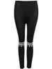 Black Slim HEYBIG Print Leggings