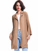 Khaki Raglan Sleeve Pockets Trench Coat