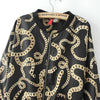 Black Long Sleeve Chain Print Jacket