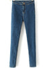 Blue Slim Pockets Denim Pencil Pant