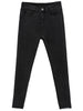 Black Elastic Pockets Denim Pant