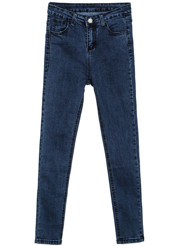 Blue Classic Slim Ripped Denim Pant