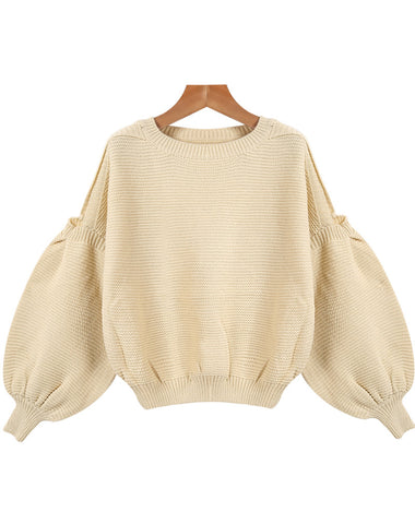 Apricot Off the Shoulder Striped Loose Knit Sweater