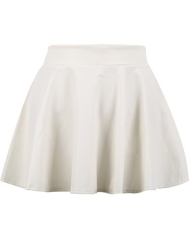 White Plaid Pleated Mini Skirt