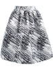 Grey Oblique Striped Skirt