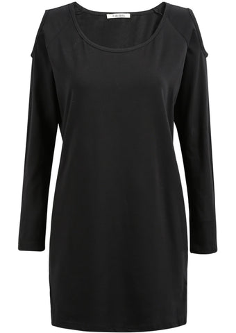 Black Off the Shoulder Long Sleeve Blouse