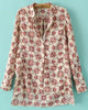 Beige Long Sleeve Geometric Print Loose Blouse
