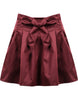Red Bow Flare Skirt