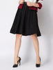 Black High Waist Vintage A Line Skirt