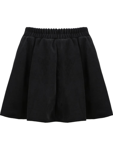 Black Flare Woolen Skirt