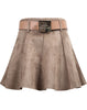 Khaki Vintage Belt Skirt