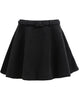 Black Flare Belt Skirt