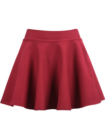 Red Flare Knit Skirt