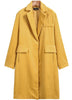 Yellow Notch Lapel Long Sleeve Loose Blazer