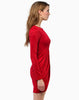 Red Long Sleeve Slim Bodycon Dress