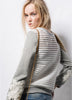 Grey Long Sleeve Hollow Applique Sweatshirt