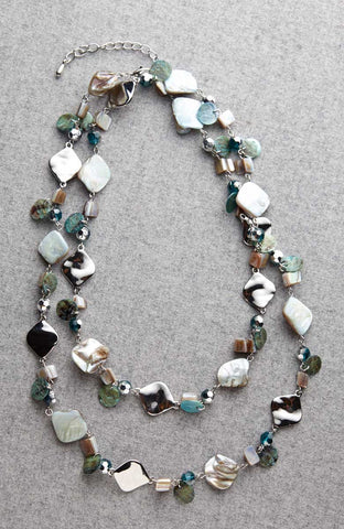 Ocean Jewels Green Turquoise Long Necklace Image1