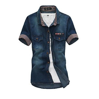 Men's Fashion High-Quality Corduroy Short Sleeve Shirt
