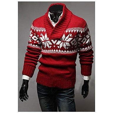 Men's Long Sleeve Slim Fit Casual Knitting Pullovers Sweaters