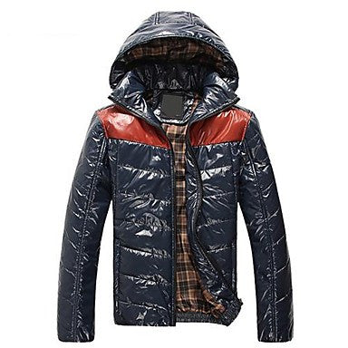 Men's Splicing Fashion Hooded Jacket