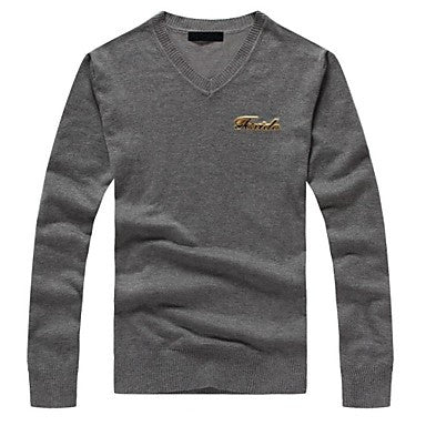 Men's V Neck Long Sleeve Casual Sweaters (More Colors Available)
