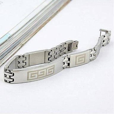 Men's Fashion Personality Non Mainstream Titanium Steel The Great Wall Design Bracelets