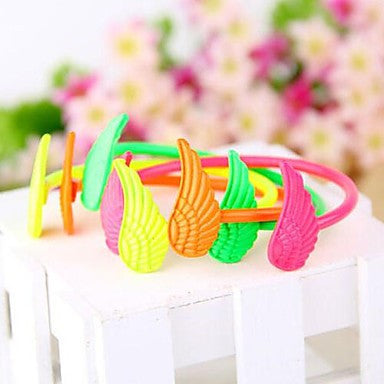 Fluorescent Color Candy Color Angel Wings Bracelet