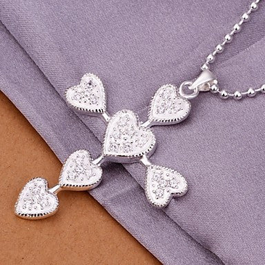 (1 Pc)European (Cross) White Copper Pendant Necklace