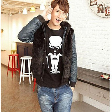 Men's Korean Style Cotton-Padded Clothes To Keep Warm Hooded Autumn/Winter Coat