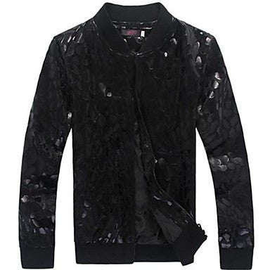 Men's Neutral Wind Leopard Fashion Collar Jacket