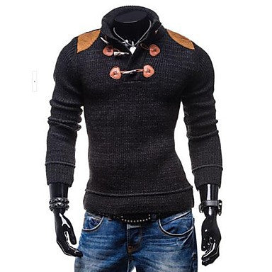 Men's Mock Neck Slim Long Sleeve Sweater