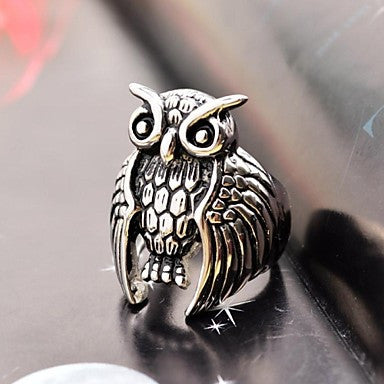 Gothic Men's Owl Stainless Steel Ring