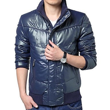 Men's Korean Fashion Slim Thick Warm Down Jacket