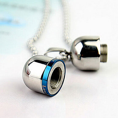Fashion Pill Perfume Bottle Titanium Steel Pendants(Black,Blue) (1 Pc)