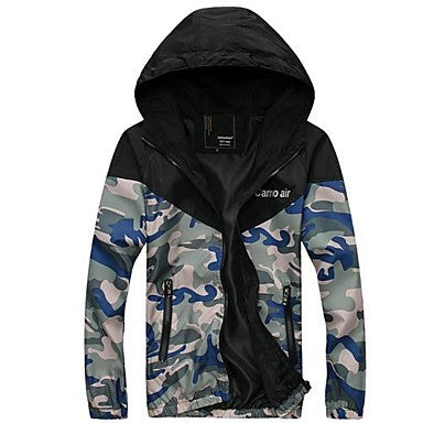 Men's Sports Leisure Camouflage Hood Caot