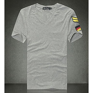 Men's Korean Fashion V-Neck T-shrit