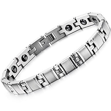 Black Gallstone Anti-fatigue Exquisite Titanium Steel Man Care Bracelet