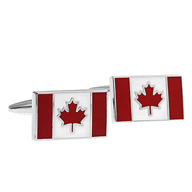 Men¡®s Maple Leaf Square Cufflinks(1 Pair)