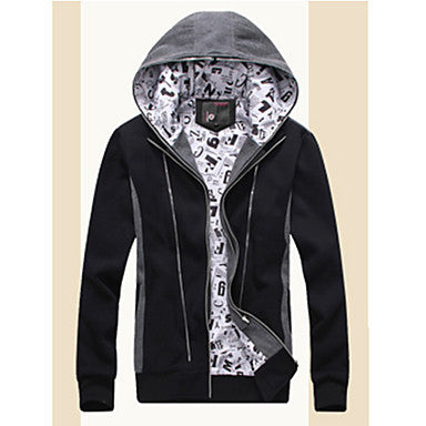 Men's False Two Pieces Zipper Hoodies