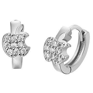 Gifr for Boyfriend High Quality Silver Plated Men's Stud Earrings(1 pr)