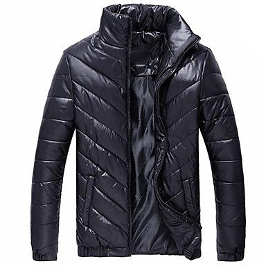 Men's Stand Collar Padded Coat