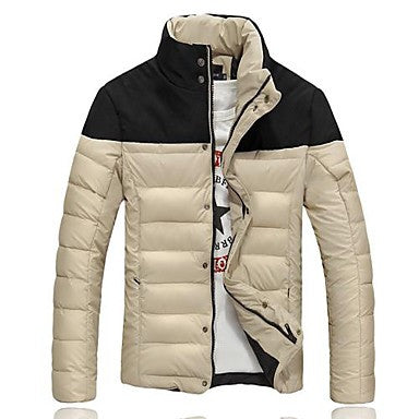 Men's Contrast Color Fashion Coat