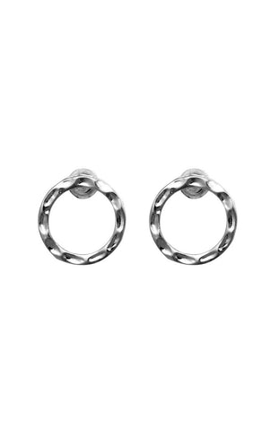 Air on G Crinkle Life Circle Simple Earrings image1