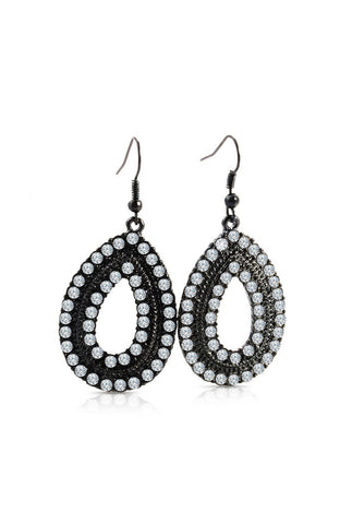 Rachel Rhinestone Tear Dropdrop Earrings image