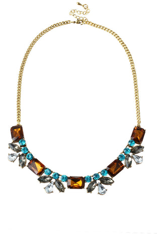 Magestone Floral Gem Amulets Statement Necklace image1