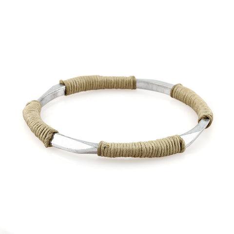 Ancient Warrior Burlywood Brown Simple Bangle Bracelet image1
