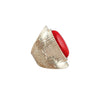 Byzantine Artifact Vermillion Rhinestone Saddle Ring image3