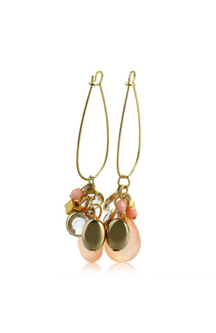 Baby Mobile Peach Gemstone Drop Earrings image1