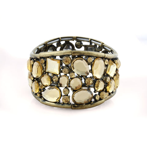 Eight Section Gem Architecture Soft Bangle image1